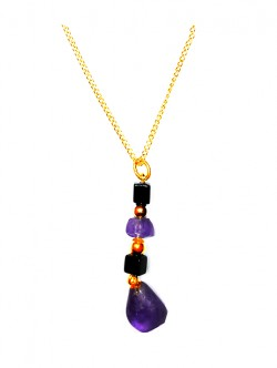 Healing Stones - Necklace with Amethyst Pendant