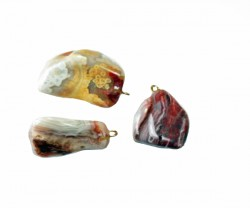 Healing Stones - Nat Agate Earrings, Healing Stones