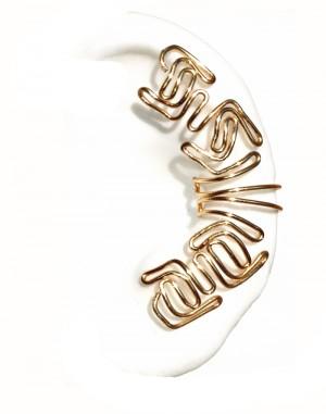 Harrah - Plain Wire Ear Cuff Wrap