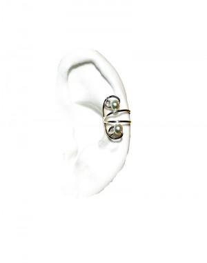 Nayeli - Gold or Silver Pearl Ear Cuff