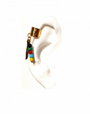Kima - Tribal Ear Cuff with colorful beads