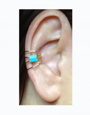 Onyx - Pierceless Ear Cuff with Miyuki Glass Center