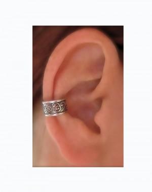 Rio - Oxidized Silver Ear Cuff