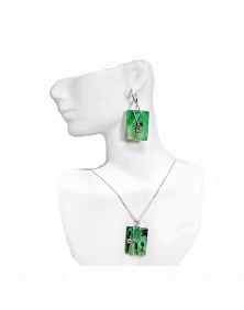Bamboo - Earrings and Necklace set