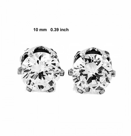 CZ Glass Magnetic Earrings, keloid pressure, compression earrings,