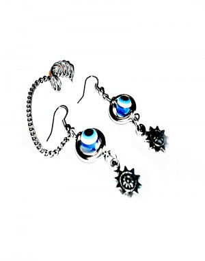 Evil Eye - Ear cuff Earrings