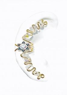 Fantasy - Pierceless Ear Cuff Wrap with Center Jewel