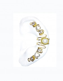 Marla - Pierceless Ear Cuff Wrap with Center Jewel