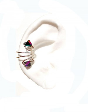 Mini Iris - Multicolor Crystals Ear cuff