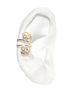 Nayeli - Gold or Silver Pearl Ear Cuff