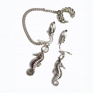 seahorse earrings,
