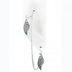 Silver Fall – Silver Double Piercings Earrings
