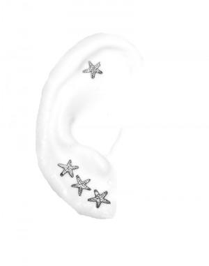 Cartilage Piercing Earrings Starfish, multiple piercings earrings, gold or silver