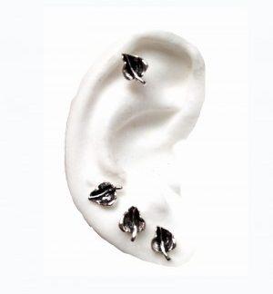 Tiny Leafs- Sterling Silver Earrings