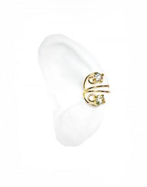 Sparkle- Gold or Silver Ear Cuff with Rhinestones