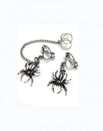 Spider Clip On Earrings For Unpierced Ear Lobesearlums