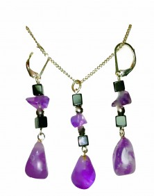 Healing Stones - Purple Amethyst Set