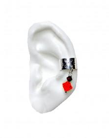 Silver Star - Silver Plated Ear Cuff