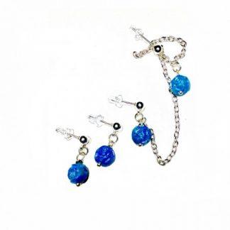 Blue Multiple Piercings Earrings