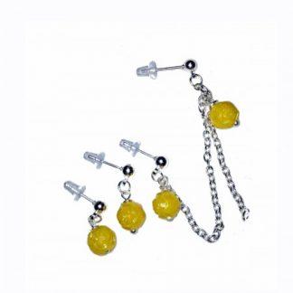 Yellow Multiple Piercings Earrings, double piercings earrings, triple, multiple piercings earrings,