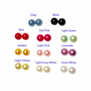 10mm Keloid Concealment Earrings with Faux Pearl Facing