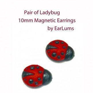 Ladybug Magnetic Earrings for Earlobe Keloid